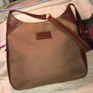 Cole Haan Canvas & Leather Shoulder Bag Excell Con